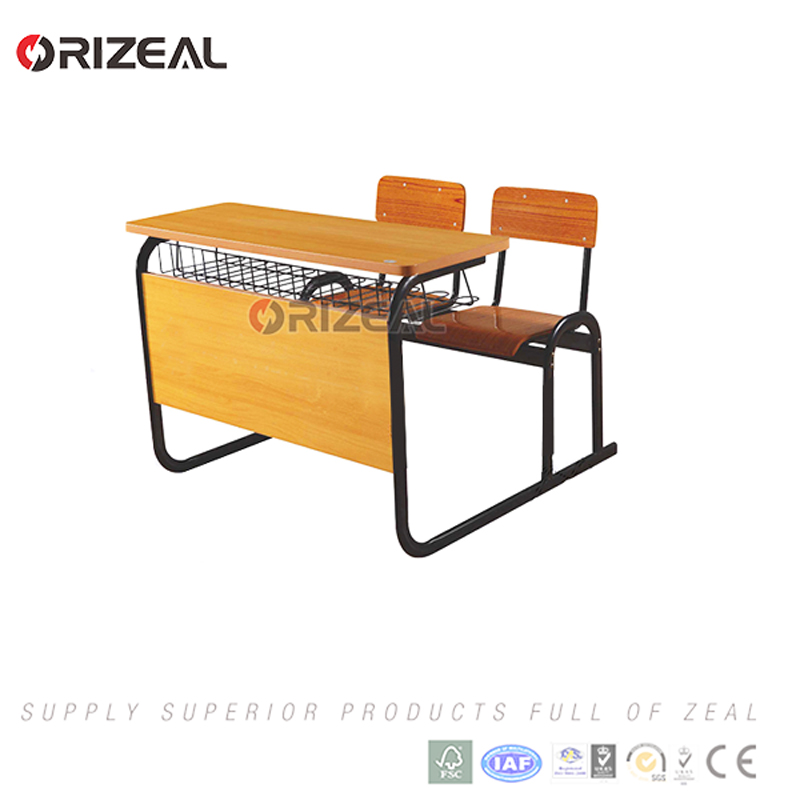 2017 Great new style school desk and chair modern primary school classroom furniture for sale
