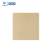 Electric Switch Gold Simple Design Blank Plate 3*3 3*6