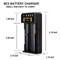 China supplier usb universal Basen BC2 18650 e-cig li-ion battery charger for wood box