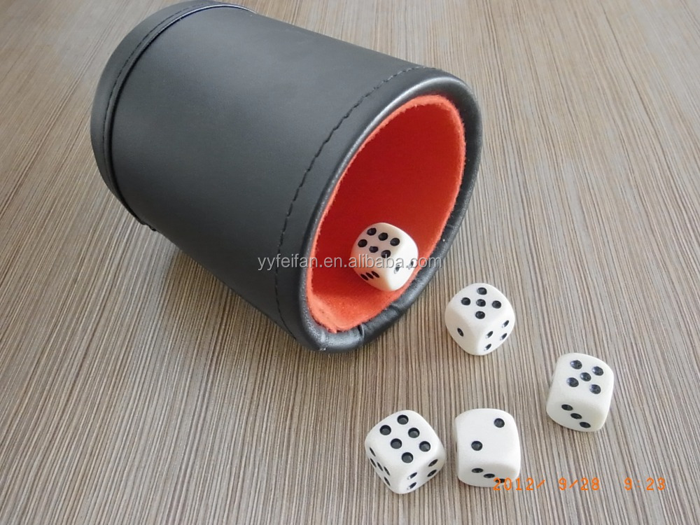 gambling leather dice cup set,can custom logo