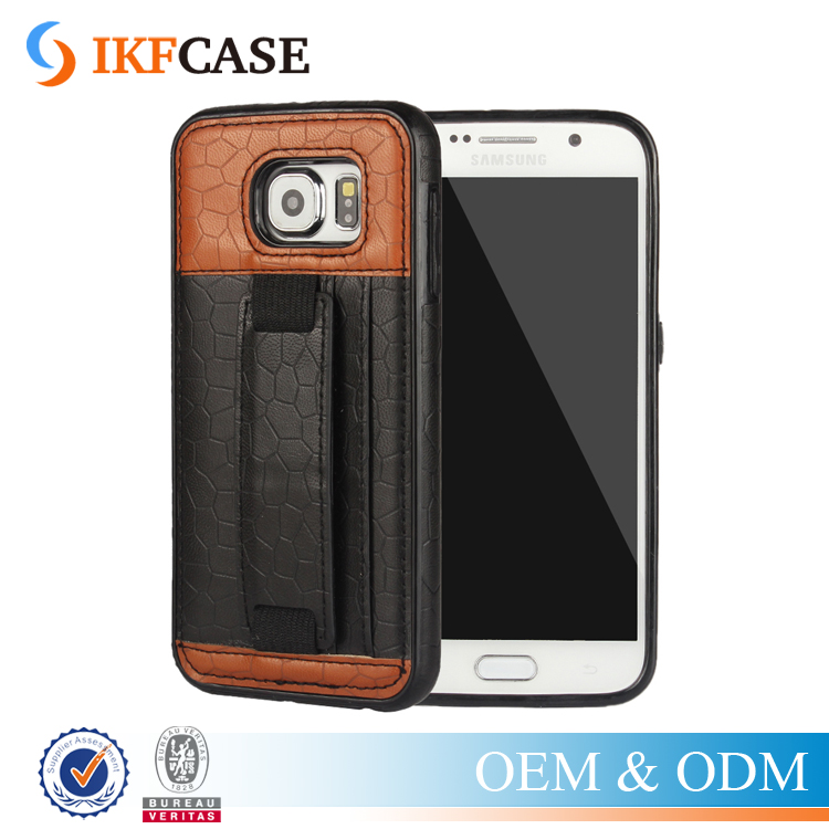 New Design Wholesale Hard Genuine Leather Case for Samsung Galaxy S6