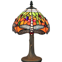 8 inch tiffany style table lamp S41008T09 imitation dragonfly stained glass table lamp for dinner room from china company