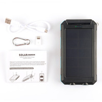 12000mAh Solar Panel Charger Waterproof Portable Dual USB Port Power Bank