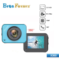 Brosfuture Factory Price X360 Mini Action Camera Full HD Action Cam micro wifi cam