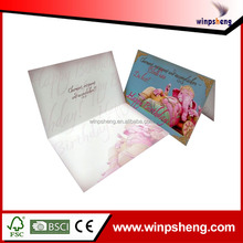 Printing paper embossed holiday bulk greeting card