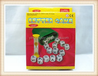 plastic best desktop game toy letter alphabet