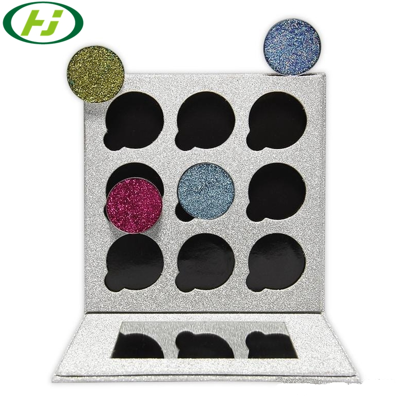 9 Color Empty Magnetic Eyeshadow Palette Case With  Custom Logo