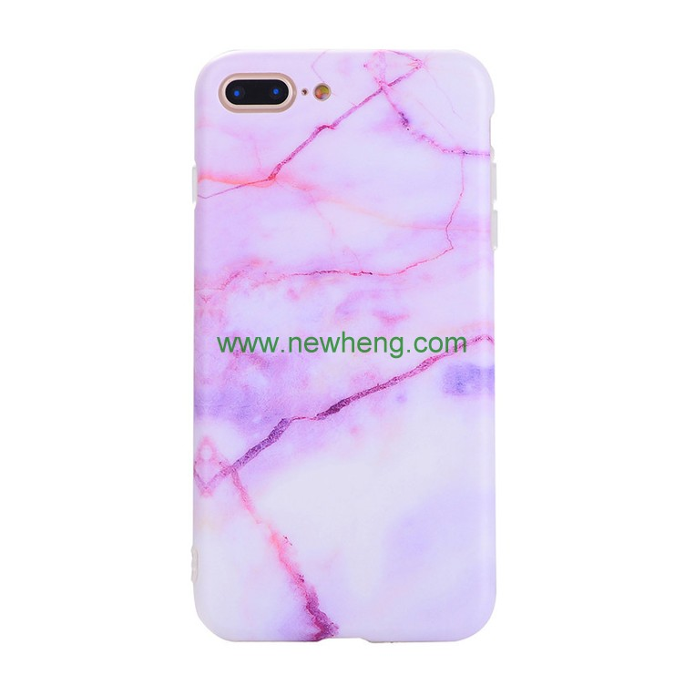 Simple Scrub Marble Stone Pattern mobile phone case soft TPU shockproof cover for iphone 7 plus