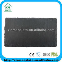 Dark Black Insulated Bulk Slate Dinner Plate With Split Surface