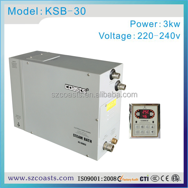 coasts 3kw 220-240v electric small steam generator for shower room