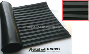 Composite ribbed rubber