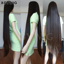 100% virgin Unprocessed Cuticle Brazilian Human Hair Silky Straight Natural Color Gluless full lace 40 inch wig