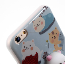 TPU wholesale lovely 3D cat china 5.5 inch mobile phone case squishy phonecase soft cover for protecting phone