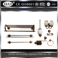 Factory supplied good price brass bathroom sanitary items accessories set bathroom accessory