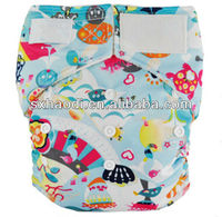 2013 new printing pattern minky baby cloth diaper