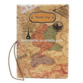 Full Color Print World Map Passport Cover Holder PU Leather Passport Holder