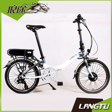 Langtu KS027-EF 2017 The Latest Research Folding Electric Bike Portable Black Electric Bicycle
