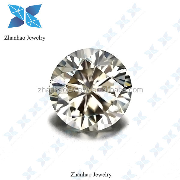 Loose Gemstone Brilliant Cutting White Moissanite Diamond