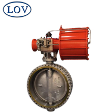 API607 WCB Metal Seal Triple Offset Pneumatic Air Operated Flanged Butterfly Valve Price