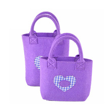 Durable embroidery logo felt hand shopping tote bag