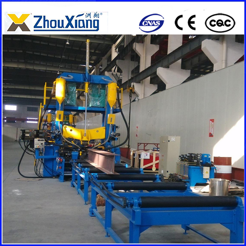 Assembly Welding Straightening combined machine for H beam steel fabrication