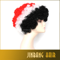 2016 Colorful European Cup Football Fans Explosion Head Hair Short Wig Cosplay Party Wig