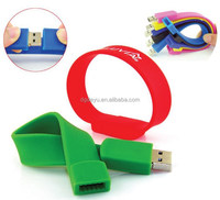 Promotional gift USB Silicone Bracelet with Custom Bracelet USB flash memory bracelet