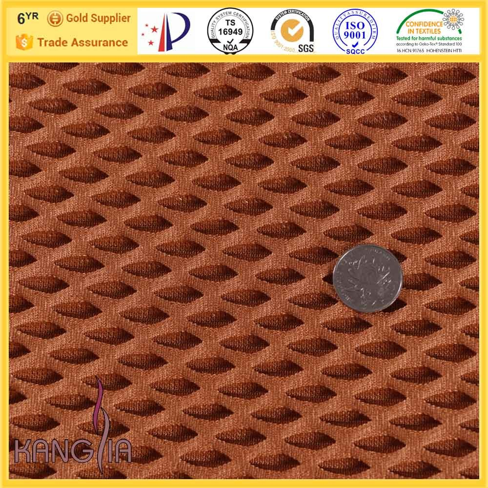 100 Polyester Stretch Mesh Fabric Car Seat Filling Upholstery Material