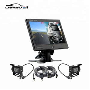 7 inch tft lcd color car quad monitor