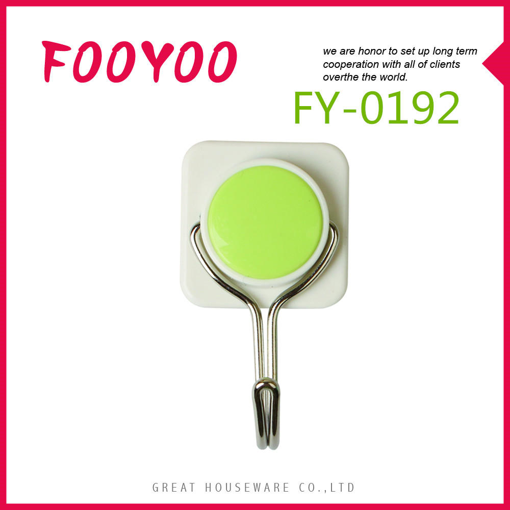 FOOYOO FY-0192 FEATURE SUCTION CUP HOOK CLOTHES AND TOWEL HOOK DECORATIVE OVER THE DOOR HOOKS