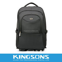 Laptop bag with trolley strap