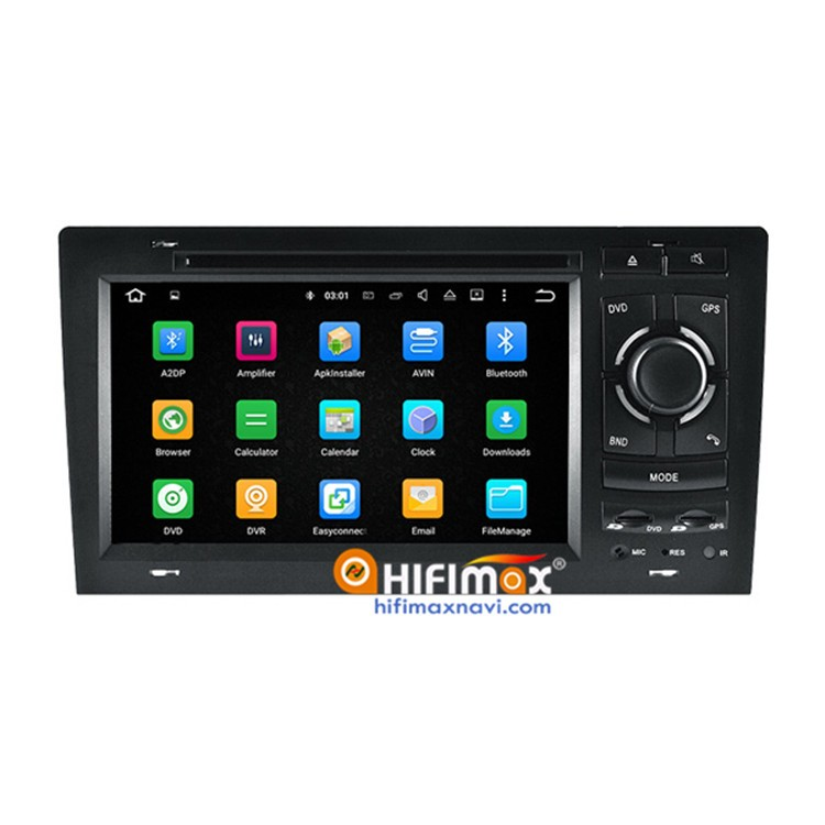 Hifimax 7 inch Android 5.1 Car navigation DVD for Audi A8 S8 (1994-2003) - OBD DAB Quad Cord 16G HD 1080P
