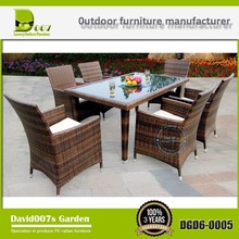 Outdoor aluminum furniture picnic fiber dining table set DGD6-0005