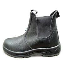 Industrial Water proof Mining Safety Boots Steel Toe No Lace Safety Shoes Boots