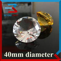 Hot selling excellent cutting 40mm crystal diamond for wedding table decoration