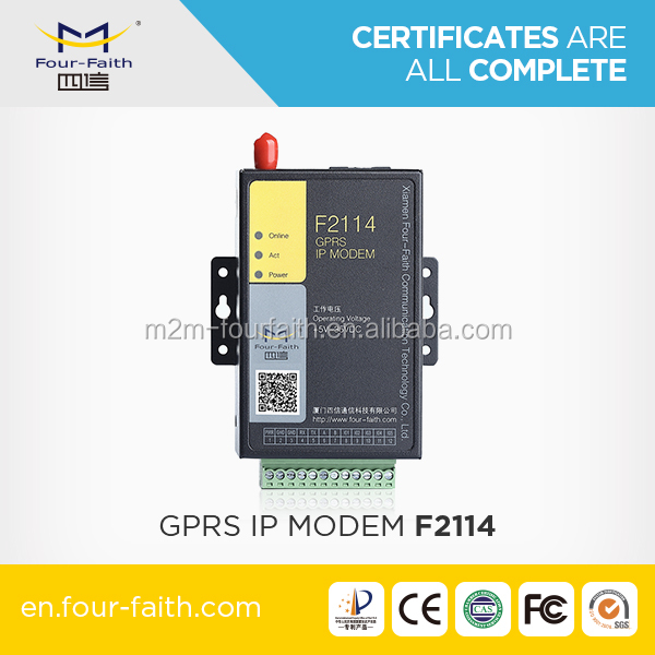 F2114 low consumption gprs modem dB9 auto recovery terminal