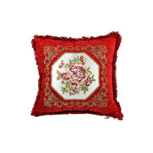 Factory price OEM design exquisite embroidery cushion cover