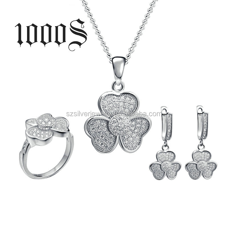 China Jewelry Factory Wholesale Bridal Wedding Jewelry Set,Rhinestone Pendant Earring Ring Sets