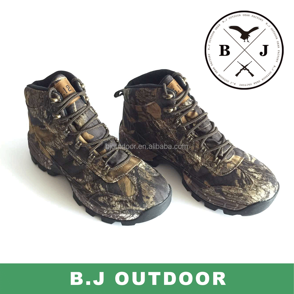 Waterproof camo outdoor hunting boot from BJ Outdoor