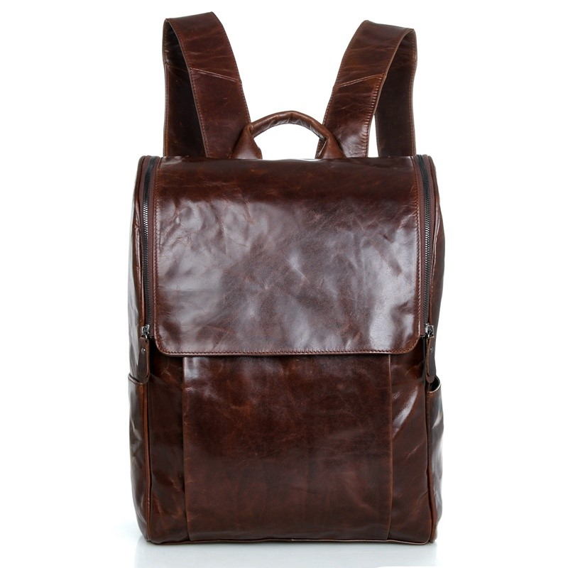 7344C JMD New Unique Genuine Cow Leather Laptop Backpacks for Teenage Wholesale In Alibaba