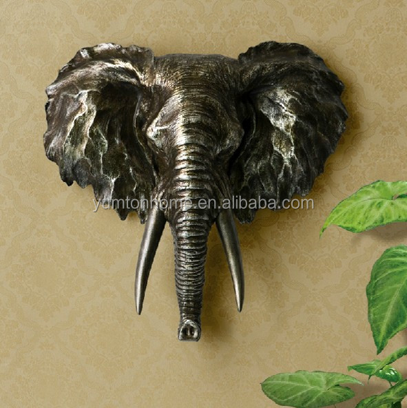 Resin animal head 3D wall art decoration