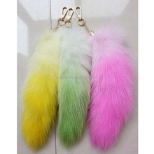 fox tail anal plug/dyed fox tails/plush animal tail