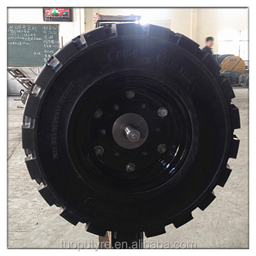 Quick assembly click forklift solid tyre 5.00-8/3.00