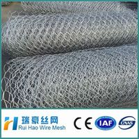Anping factory best price Galvanized hexagonal wire mesh, gabion box