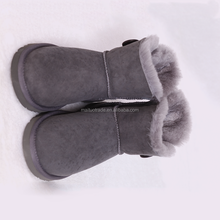 2018 Mid Calf Sheepskin Fur Women Snow Boos Winter Warm Boots
