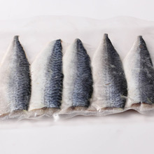 Frozen pacific mackerel butterfly fish fillet