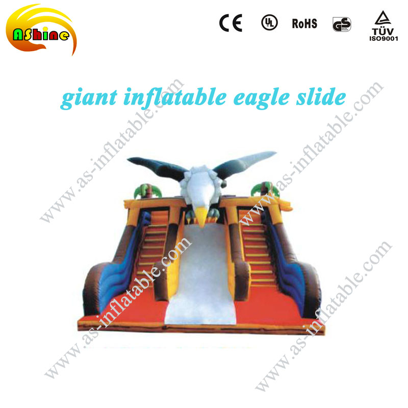 eagle hippo inflatable water slide for kids