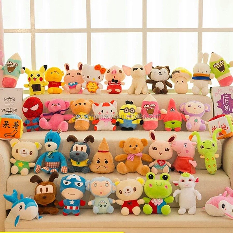 assorted size 15 cm -25 cm plush toys for crane machine ,custom teddy bear vending machine appa
