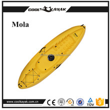 colorful cute small boat banana boat cheap plastic fishing kayak for sale