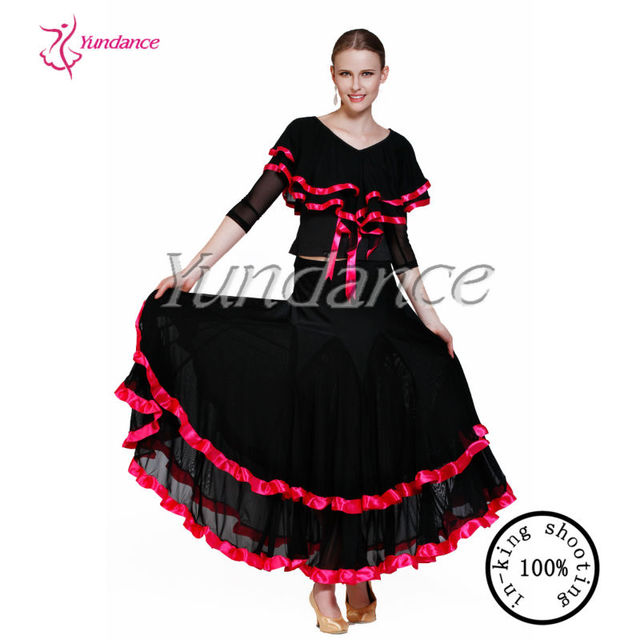 ladies spanish dance dress with ruffles AB038